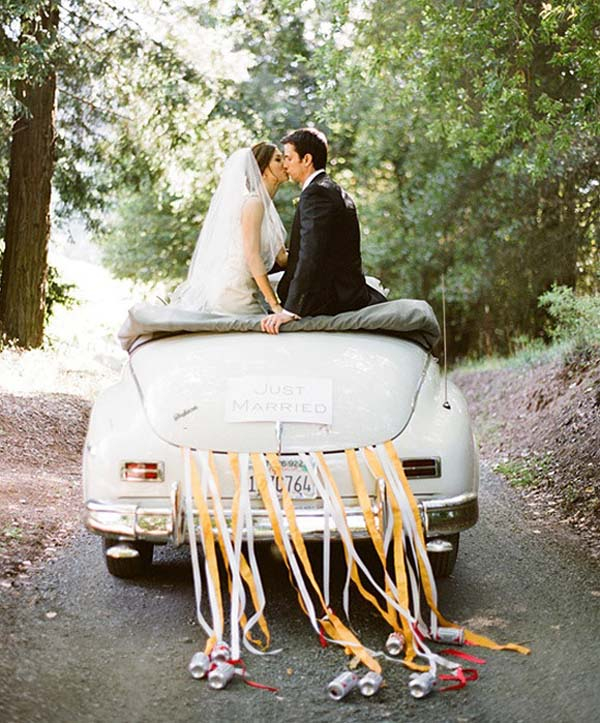 coches originales bodas