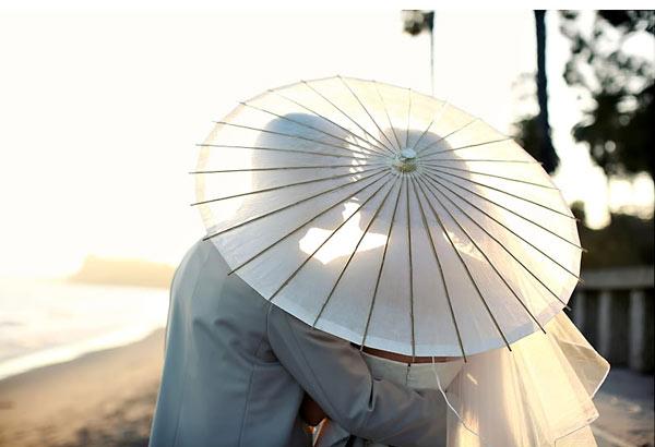 Sombrillas boda