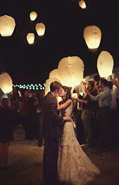 farolillos de papel boda