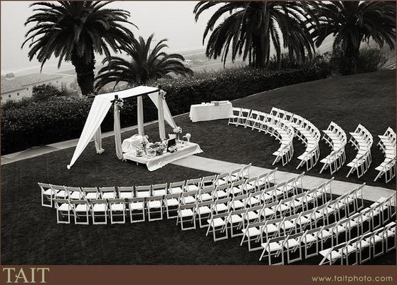 disposición sillas ceremonia
