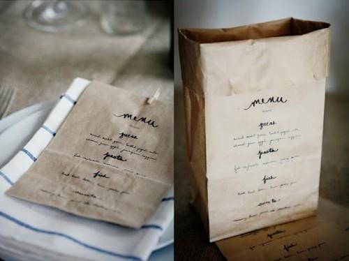 minutas originales para bodas