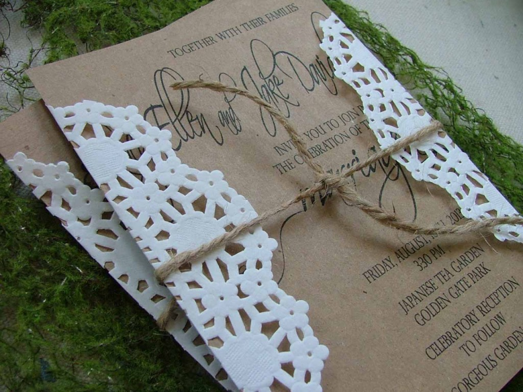 Invitations With Doilies with amazing invitation ideas