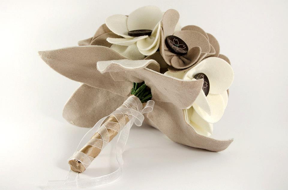 ramos de novia de tela