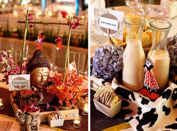centros de mesa para bodas temáticas