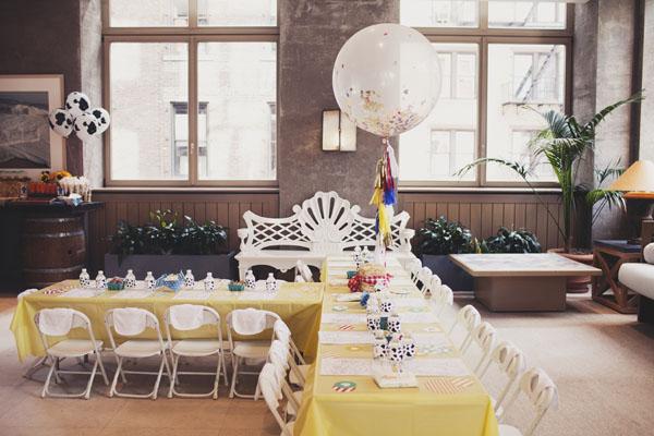 decoración mesa niños